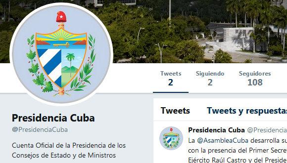 Estrena perfil en Twitter la Presidencia de Cuba