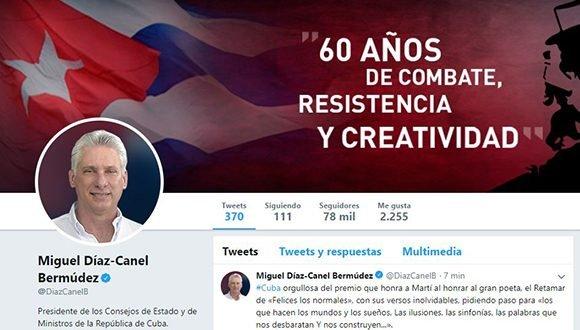 Felicita Díaz-Canel a Fernández Retamar por premio José Martí de la UNESCO