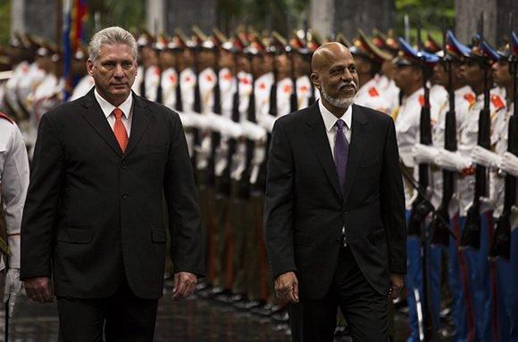 Diaz-Canel a reçu le Premier ministre du Belize