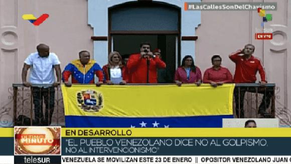 Venezuela anuncia ruptura de nexos diplomáticos con EE.UU