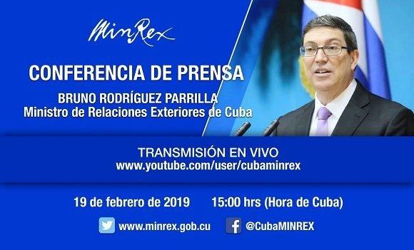 Comparecerá canciller cubano hoy ante la prensa nacional y extranjera