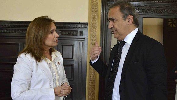 Dialogan Vicepresidenta del Parlamento cubano y Subsecretario de Asuntos Exteriores de Italia