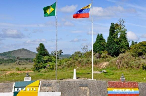 Frontera entre Brasil y Venezuela en el Estado de Roraima. Foto: Archivo