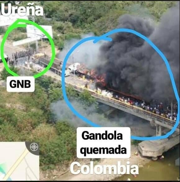 """Cazando mentiras: ¿Quién quemó la """"ayuda humanitaria"""" en la frontera?"""