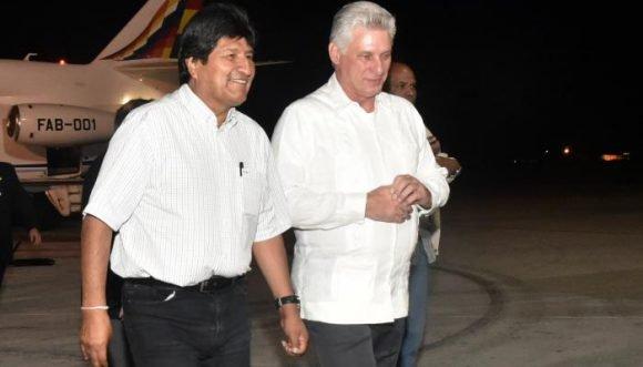 Recibió Díaz-Canel al Presidente Evo Morales (+Fotos)