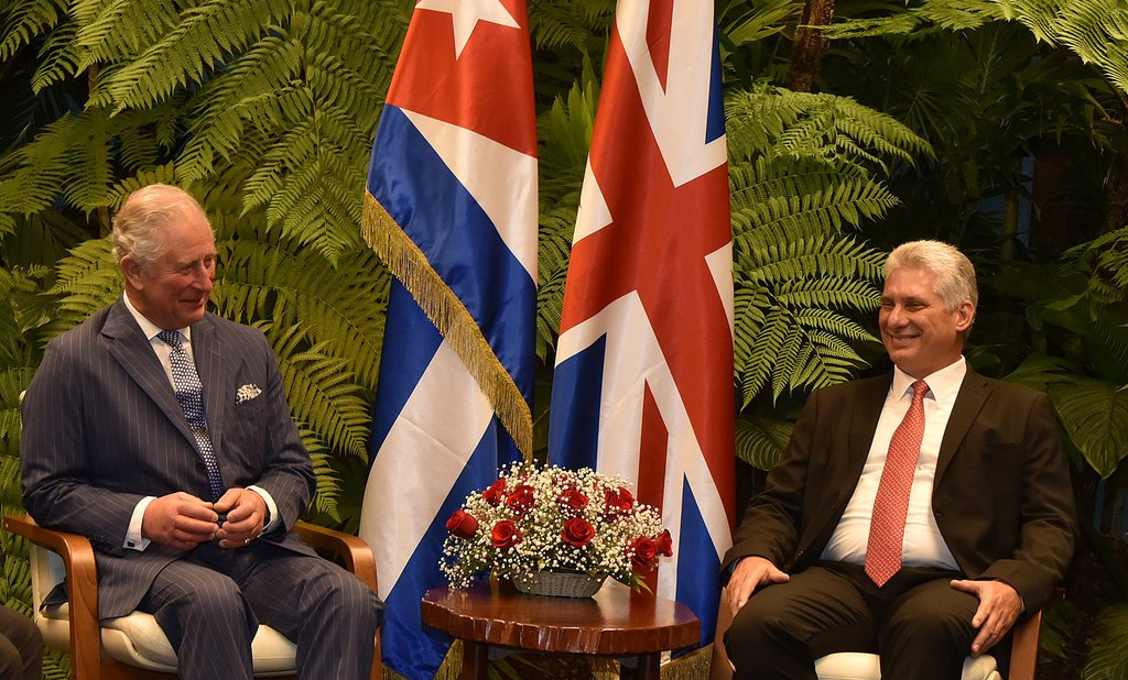 Diaz-Canel receives the Prince of Wales