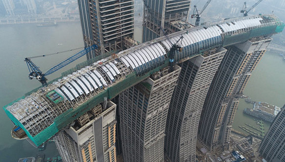 Dan toques finales a rascacielos horizontal construido en China (+ Fotos)
