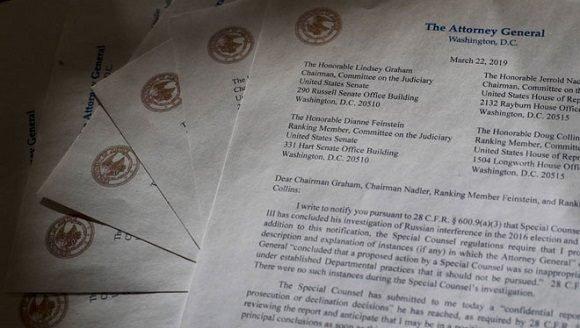 Fiscal especial termina investigación sobre interferencia rusa en EU