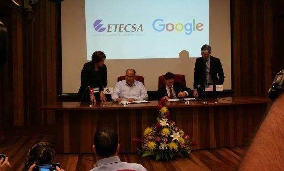 ETECSA and Google sign new Memorandum of Understanding.