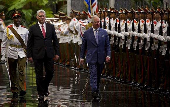 Miguel Díaz-Canel, recibió en la tarde noche de este lunes al príncipe Carlos, heredero de la corana británica. Foto: Irene Pérez/ Cubadebate.