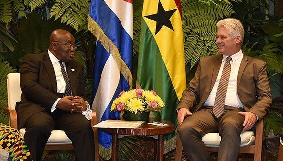 Diaz-Canel receives President of Ghana