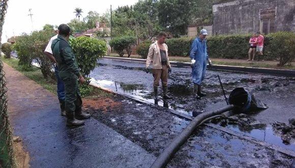 En Calimete, Matanzas, se derramó 268 mil litros de petróleo