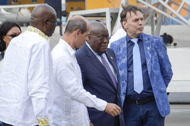 En Cuba el Presidente de la República de Ghana