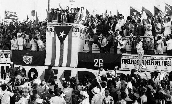 Hace 60 años: Multitudinario recibimiento a Fidel tras su histórica gira por Las Américas(+ Fotos y Video)