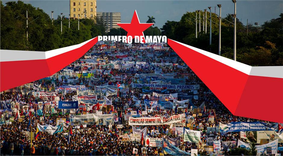 Encabezada por Raúl y Díaz-Canel, arranca marcha por el Primero de Mayo en La Habana