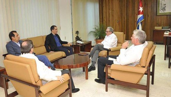 Máximas autoridades cubanas recibieron al canciller de Venezuela Jorge Arreaza