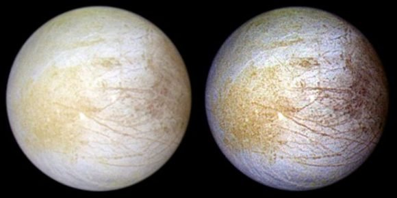 El océano en la luna Europa, de Júpiter, tiene sal común