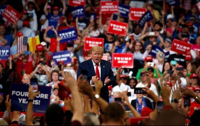 Donald Trump inicia campaña de reelección y arremete contra los demócratas