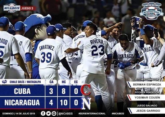 Nicaragua beats Cuba 4-3 in baseball friendly