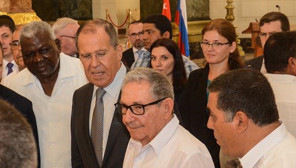 Raúl Castro y Canciller ruso en entrega de obra en el Capitolio Nacional (+Fotos)