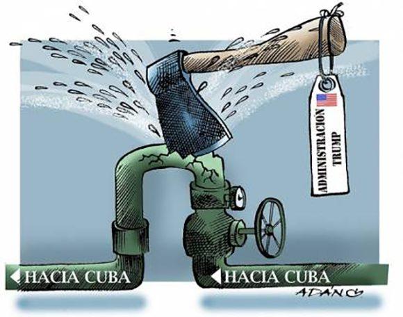 bloqueo de combustible hacia cuba