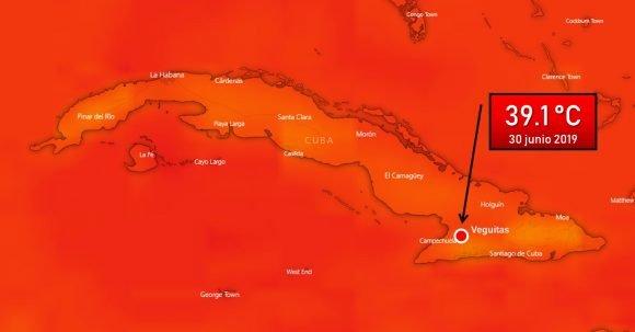 39.1 Celsius! New record in Cuba