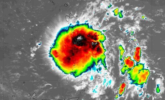 Tormenta tropical Dorian sobre las Antillas Menores
