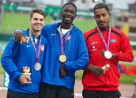 Raciel González obtuvo la medalla de bronce en categorías T47. Foto: Flávio Florido/ Lima 2019
