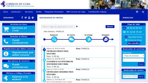 Novedoso servicio de Correos de Cuba posibilita rastrear envíos desde el exterior