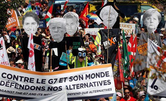 Repudio a la Cumbre del G-7 en Francia