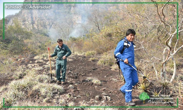 Evo Morales reclama unidad nacional ante incendios forestales en La Chiquitanía