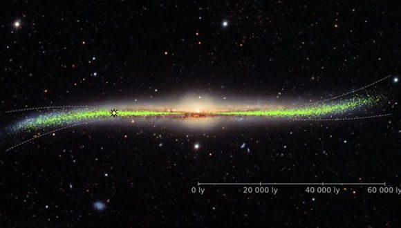 """El nuevo estudio sugiere que la Vía Láctea tiene una estructura """"deformada y retorcida"""". Foto: OGLE/ Warsaw UNiversity."""