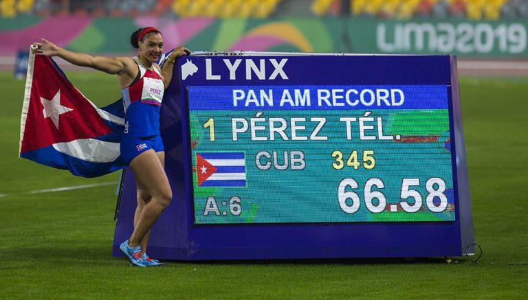 Cubana Yaimé Pérez lanza disco de oro e impone récord panamericano (+Tuit)