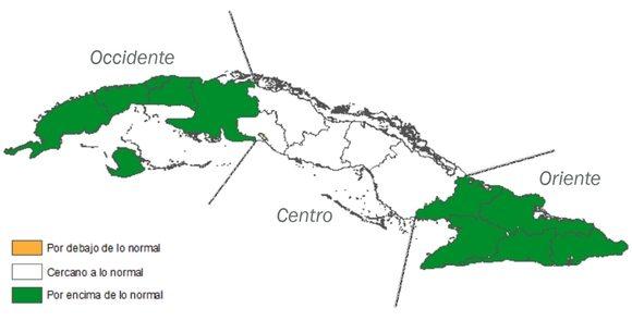 Especialistas cubanos pronostican precipitaciones en octubre por encima de lo habitual