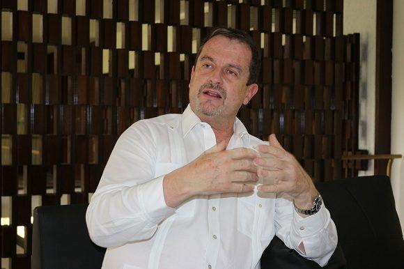 Xavier Cazaubon; Presdiente de la Federación Internacional de Pelota Vasca.Foto: Adolfo Ley