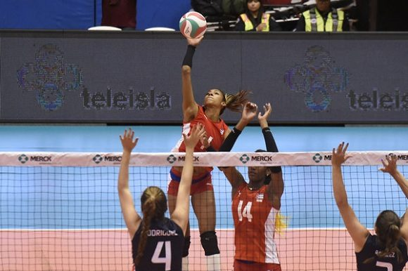 Pierde Cuba en ante Dominicana en NORCECA de Voleibol (f)