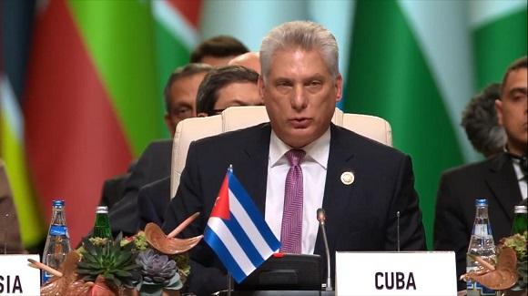 """Díaz Canel: """"Hay un mundo postergado históricamente que espera por nuestros acuerdos y acciones"""""""