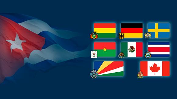 Recibe Díaz-Canel cartas credenciales de nuevos embajadores en Cuba (+Fotos)