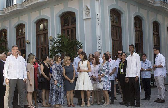 Reyes de España visitan La Habana Vieja