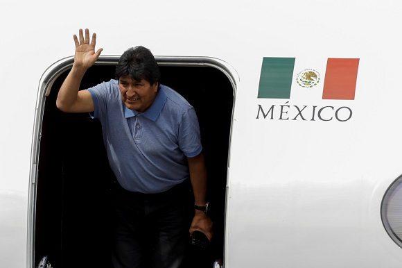 Llegó Evo Morales a México (+ Video)
