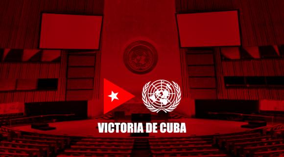 Colaboradores cubanos en Dominica festejan victoria en ONU