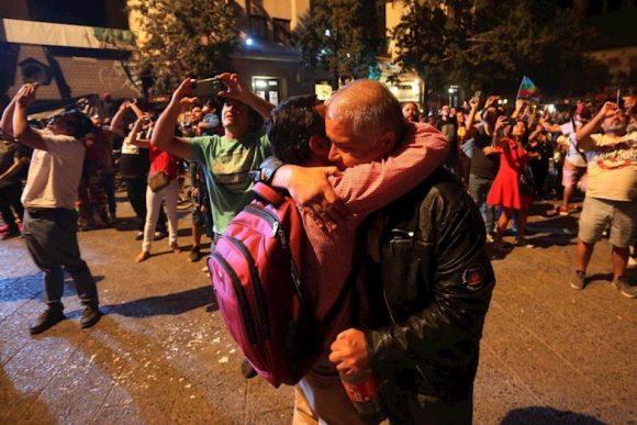 Represión el fin de año en Chile