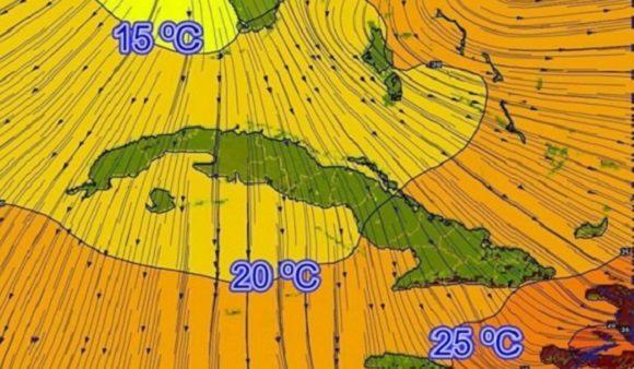 José Rubiera anuncia para este miércoles un día muy frío en el occidente y centro de Cuba
