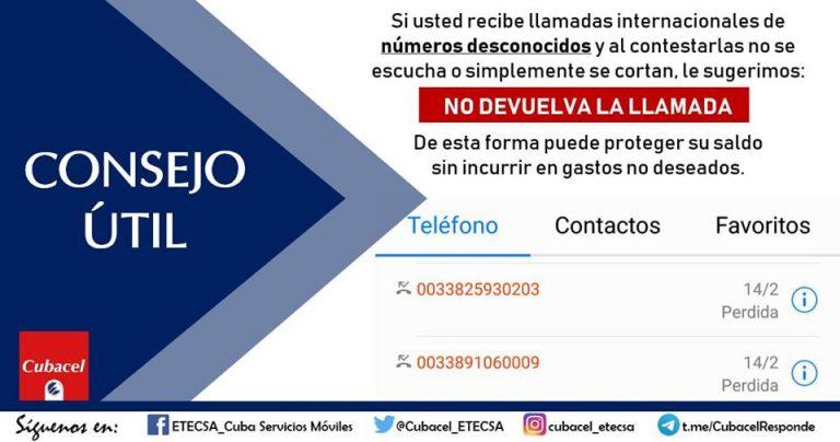 Cuba: alerta ETECSA sobre fraudes en las telecomunicaciones