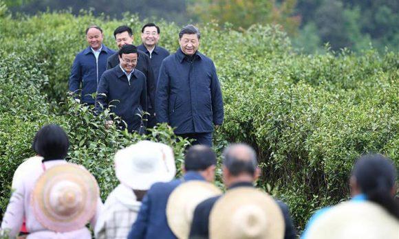 Presidente chino viita ciudad de Xian