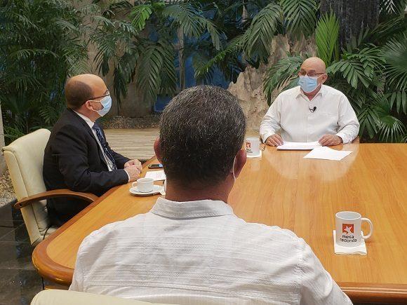 René Mesa Villafañas, ministro de la Construcción. Foto: Presidencia Cuba/ Twitter.