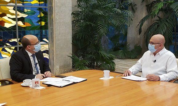 René Mesa Villafaña, ministro de la Construcción. Foto: Presidencia Cuba/ Twitter.