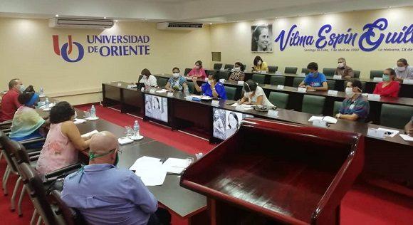 Miembros del Consejo de Dirección del MES realizaron un recorrido de trabajo por la Universidad de Oriente. Foto: Dirección de Comunicación Institucional de la Universidad de Oriente.