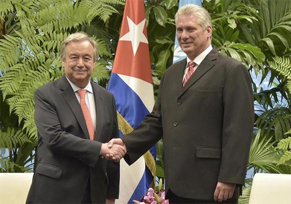 """Carta de Díaz-Canel a António Guterres: """"El momento y el sentido común imponen dejar de lado las diferencias políticas y buscar soluciones mancomunadas a los problemas globales"""""""