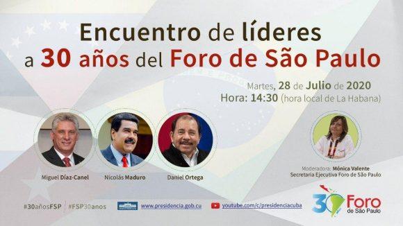 Foro de Sao Paulo: Cuba convoca a unión de fuerzas políticas
